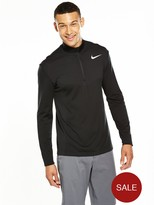 Nike Dri-FIT Long Sleeve 1/2 Zip Top - Black