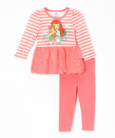 Children's Apparel Network Peach Palace Pets Tutu Tee & Leggings - Toddler