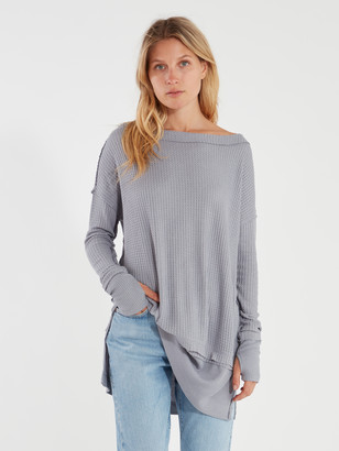 Free People North Shore Long Sleeve Oversized Thermal Top