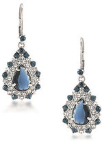 Carolee Silvertone Brass Statement Drop Pierced Earrings