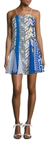 Kenzo Print Gathered Fit And Flare Dress