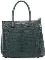 Nancy Gonzalez Medium Double-Handle Crocodile Tote Bag