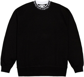 Acne Studios Logo Rib Sweatshirt in Black | FWRD