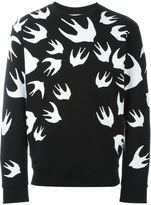 McQ by Alexander McQueen swallow print sweatshirt - men - Cotton/Polyester - XL