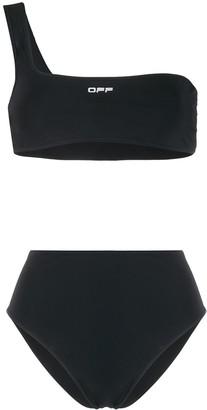 Off-White Logo Print Bikini Set