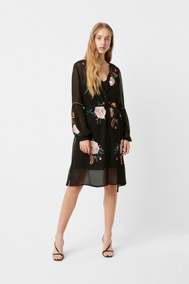 French Connection Ayee Embroidered Button Down Dress