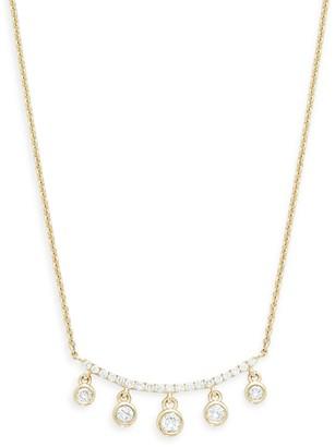 Saks Fifth Avenue 14K Yellow Gold Diamond Pendant Necklace