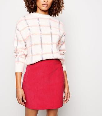 New Look Corduroy Pocket Side Mini Skirt