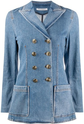 Philosophy di Lorenzo Serafini Denim Double-Breasted Blazer