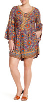 Angie Long Sleeve Printed Romper (Plus Size)