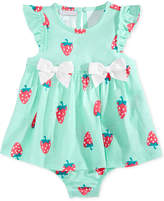 First Impressions Strawberry-Print Cotton Skirted Romper, Baby Girls (0-24 months), Only At Macy's