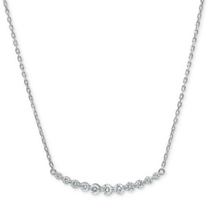 """Forever Grown Diamonds Lab-Created Diamond 16"""" Statement Necklace (3/4 ct. t.w.) in Sterling Silver"""