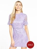 Fashion Union Paloma Lace Dress - Lilac