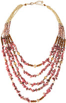 Nakamol Multi-Strand Layered Stone & Pearl Beaded Necklace, Pink Mix