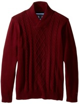 Tommy Hilfiger Sam Shawl Cable Sweater (Big Kids)