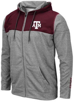 Colosseum Men Texas A & M Aggies Nelson Full-Zip Hooded Sweatshirt