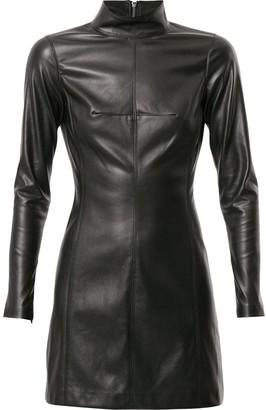 Alexis Misake leather short dress