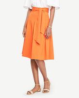 Ann Taylor Belted Full Skirt
