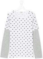 Kenzo eye patterned layered T-shirt
