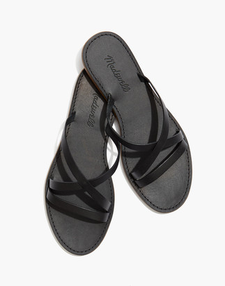 Madewell The Boardwalk Skinny-Strap Slide Sandal