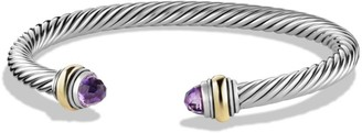David Yurman Cable Classics Bracelet With Gemstone & 14K Gold