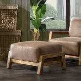 INK+IVY Easton Ottoman in Brown