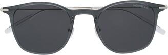 Montblanc Polished Round-Frame Sunglasses