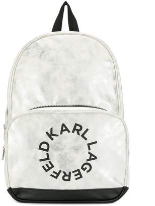 Karl Lagerfeld Paris round logo backpack