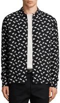 AllSaints Domino Slim Fit Button-Down Shirt