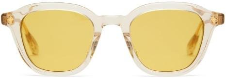 BEIGE Lunetterie Generale - Enigma Round Acetate Sunglasses - Mens