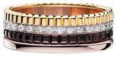 Boucheron Classic Quatre 18k Four-Color Gold Small Diamond Band Ring, Size 53