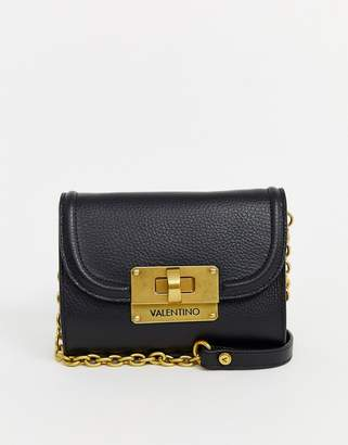 Mario Valentino Valentino By Valentino by Chicago black leather cross body bag with chain strap