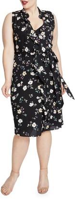 Rachel Roy Plus Brit Ruffled Floral Dress