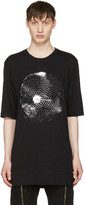 Helmut Lang Black Disco Ball Logo T-shirt