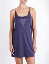 Hanro V-neck jersey and stretch-silk nightdress