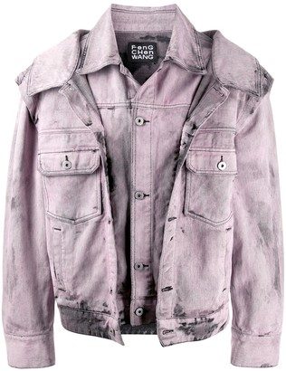 Feng Cheng Wang Layered Acid Wash Denim Jacket