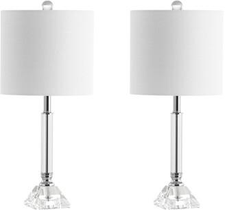 Jonathan Y Designs Dana 19.5In Crystal Column/Metal Led Table Lamp