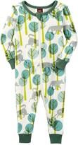 Tea Collection Looming Lupi Pajama Romper (Baby & Toddler Girls)