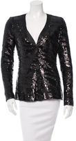 Rachel Zoe Long Sleeve Sequin Top