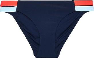 Jets Cutout Color-block Low-rise Bikini Briefs
