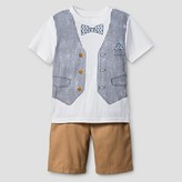 Little Rebels Toddler Boys' Top And bottom Set - White