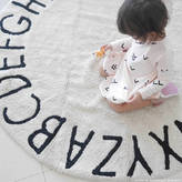 peastyle Round Alphabet Rug