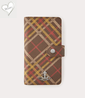 Vivienne Westwood Derby Flap Iphone Case Xr Brown Tartan