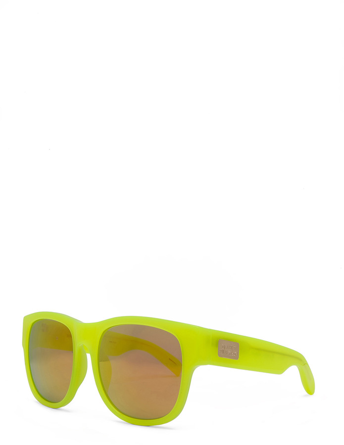 Matthew Williamson Sunglasses in Neon Yellow with Gold Mirror