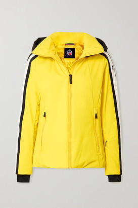 Fusalp Sidonie Hooded Padded Striped Ski Jacket - Yellow
