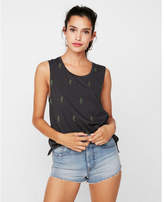 Express one eleven cacti embroidery muscle tank