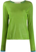 Marni contrast trim knitted top