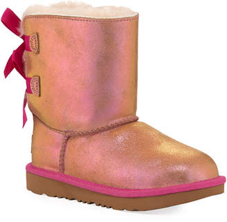 UGG Bailey Bow II Shimmer Suede Boots, Baby/Toddler