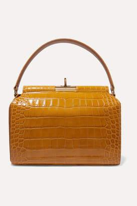 Gu De Gu de - Tully Croc-effect Leather Tote - Mustard