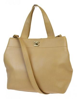 Chanel Beige Leather Handbags